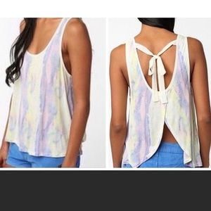 URBAN OUTFITTERS KIMCHI BLUE TIE DYE OPEN BACK TOP